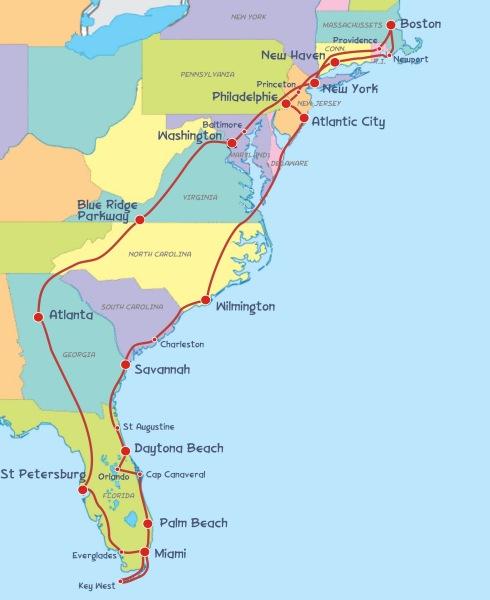 Road Trip Usa 2005 Boston Miami Boston